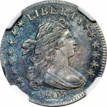 1805 Draped Bust Dime. JR-2. Rarity-1. 4 Berries. MS-65 (NGC).