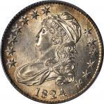 1824 Capped Bust Half Dollar. O-116. Rarity-3. MS-63 (PCGS).