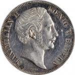 GERMANY. Bavaria. 2 Talers, 1848. Munich Mint. Maximilian II. PCGS MS-61 Prooflike Gold Shield.