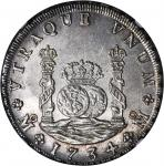 MEXICO. 8 Reales, 1734-MF. Philip V (1700-46). NGC MS-63.