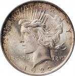 1922 Peace Silver Dollar. MS-66+ (PCGS). CAC.