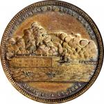 1861 Bombardment of Fort Sumter. Type I. Bronze. 34 mm. HK-11c. Rarity-7. MS-65 BN (NGC).