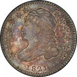 1821 Capped Bust Dime. John Reich-9. Rarity-2. Small Date. Mint State-66 (PCGS).