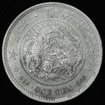 日本 新一圓銀貨(大型) New type 1Yen (Large size) 明治17年(1884) 返品不可 要下見 Sold as is No returns 修正品 VF+