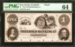 Freehold, New Jersey. Freehold Banking Co. ND (18xx). $1. PMG Choice Uncirculated 64.
