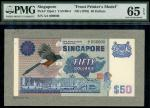 x Board of Commissioners of Currency, Singapore, an obverse archival composite essay for a 50 dollar