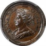 GREAT BRITAIN. Copper Farthing Pattern, 1714. London Mint. Anne. PCGS PROOF-64 Brown Gold Shield.