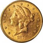 1877-S Liberty Head Double Eagle. MS-61 (PCGS).