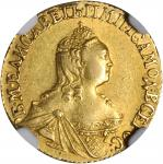 RUSSIA. 2 Ruble, 1756. NGC AU-55.
