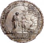 1800年瑞士学生银章,NGC MS62,美品