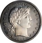 1902 Barber Half Dollar. Proof-67 Cameo (PCGS).