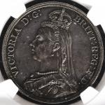 GREAT BRITAIN Victoria ヴィクトリア(1837~1901) Crown 1887 NGC-PF58 Proof EF+