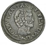 Italian coins;PARMA Ottavio Farnese (1547-1587) Quarto di scudo sigla L S - MIR 930/2 AG (g 8.80) RR