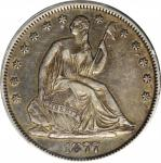 1877-S Liberty Seated Half Dollar. Type I Reverse. WB-8. Rarity-3. Very Small S, Triple Punched S. E