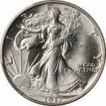 1917 Walking Liberty Half Dollar. MS-64 (PCGS). Gold Shield Holder.
