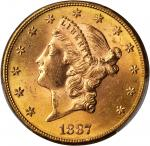 1887-S Liberty Head Double Eagle. MS-63+ (PCGS). CAC.