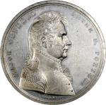 1814 Major General Peter B. Porter Medal. White Metal. 65 mm. Julian MI-18. About Uncirculated.