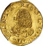 ITALY. Modena. 2 Scudi dOro, ND (1629-58). Francesco I dEste. NGC AU-55.