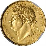 GREAT BRITAIN. Sovereign, 1821. NGC EF Details--Obverse Graffiti.