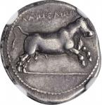 THESSALY. Larissa. AR Drachm (6.12 gms), ca. 370-360 B.C. NGC Ch VF, Strike: 5/5 Surface: 4/5. Fine