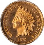1872 Indian Cent. Snow-PR-1, the only known dies. Proof-65 RD (PCGS).