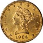 1904-O Liberty Head Eagle. MS-62+ (PCGS).