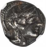ATTICA. Athens. AR Drachm (4.10 gms), ca. 450-404 B.C.