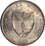 COLOMBIA. 1837-RS 8 Reales. Bogotá mint. Restrepo 193.1. MS-63 (PCGS).