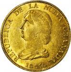 COLOMBIA. 1842-RS 16 Pesos. Bogotá mint. Restrepo M211.11. MS-62+ (PCGS).