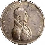 1817 James Monroe Indian Peace Medal. Silver. Third Size. Julian IP-10, Prucha-41. Choice Fine.
