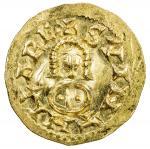 VISIGOTHS IN SPAIN: Suinthila, 621-631, AV tremissis (1.51g), Emerita (Mérida), Miles-235, lustrous