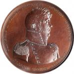 1813 (1869-1880s) Master Commandant Oliver H. Perry / Battle of Lake Erie Naval Medal. Bronzed Coppe