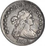 1800 Draped Bust Silver Dollar. BB-184, B-12. Rarity-3. EF Details--Improperly Cleaned (NCS).