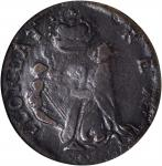 Undated (Circa 1663-1672) St. Patrick Farthing. Breen-208, W-11500. Nothing Below King. VF-25 (NGC).