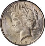 1923-S Peace Silver Dollar. MS-62 (PCGS). OGH--First Generation.