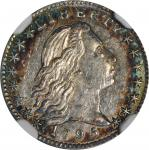 1795 Flowing Hair Half Dime. LM-10. Rarity-3. MS-63+ (NGC).