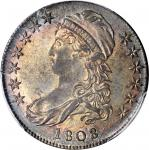 1808/7 Capped Bust Half Dollar. O-101. Rarity-1. MS-62 (PCGS).