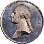 Circa 1876 Residence of Washington medal by Smith and Hartmann. Musante GW-209, Baker-111. White Met