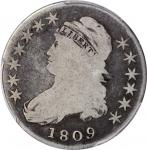 1809 Capped Bust Half Dollar. O-109a. IIIII Edge. Good-6 (PCGS). CAC.