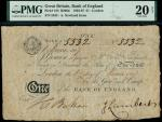 Bank of England, Abraham Newland (1778-1807), 1, London, manuscript date 1 June 1807, serial number