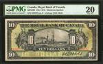 CANADA. Royal Bank of Canada. 10 Dollars, 1913. CH #630-12-06. PMG Very Fine 20.