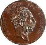 GERMANY. Saxony. Bronze Commemorative 5 Mark, 1889-E. Muldenhutten Mint. Albert. PCGS SPECIMEN-64 Br