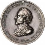1849 Zachary Taylor Indian Peace Medal. Silver. Second Size. Julian IP-28, Prucha-47. Extremely Fine