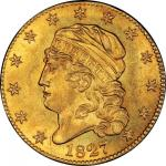 1827 Capped Head Left Half Eagle. Bass Dannreuther-1. Rarity-5+. Mint State-64 (PCGS).