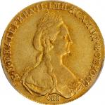 RUSSIA. 10 Rubles, 1779-CNB. St. Petersburg Mint. Catherine II (the Great). PCGS EF-40 Gold Shield.