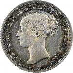 Victoria (1837-1901), Groat, 1857 mule with the obverse of the Threepence, young head left, rev. Bri