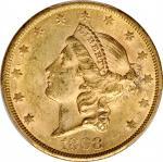 1868-S Liberty Head Double Eagle. MS-60 (PCGS). CAC.
