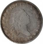 1794 Flowing Hair Half Dollar. O-101a, T-7. Rarity-3. VG-10 (PCGS).