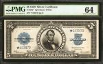 Fr. 282*. 1923 $5 Silver Certificate Star Note. PMG Choice Uncirculated 64.