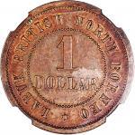British North Borneo token coinage, Labuk - British North Borneo, $1 (1 Dollar) undated (pre-1924),